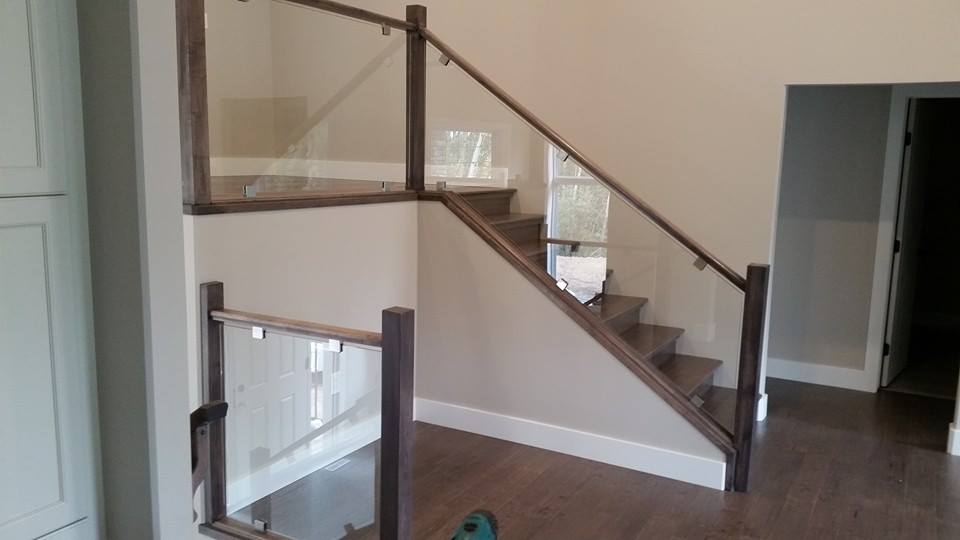 Interior glass railing home design ideas and pictures for Interior glass railing designs