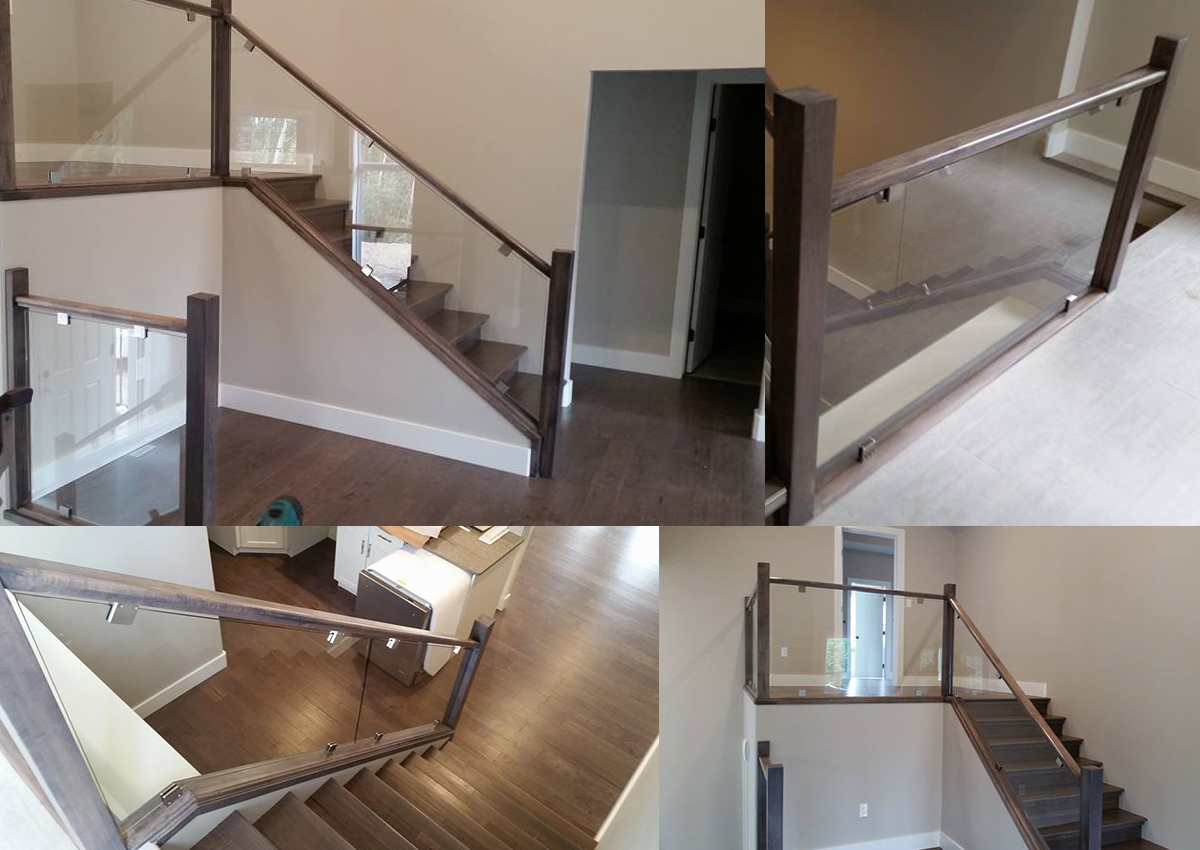 Interior glass railings all pro glass grande prairie for Interior glass railing designs