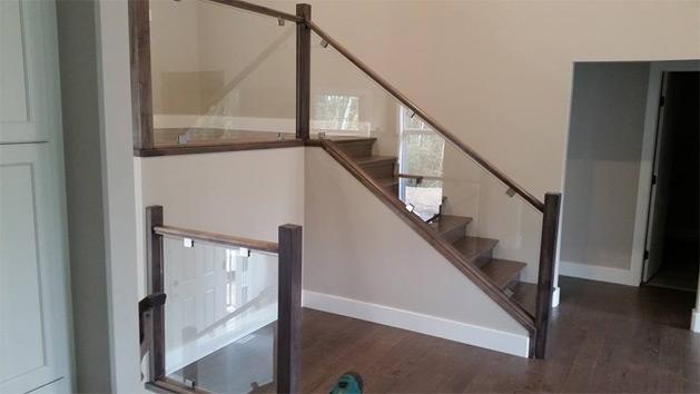 Glass Stair Railings Interior: All Pro Glass Grande Prairie